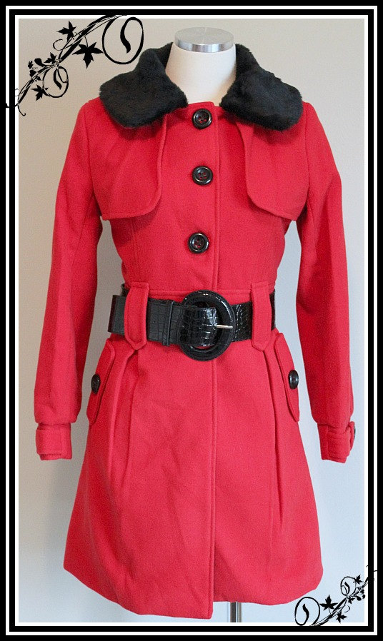 1940s Vintage Replica Black & Red Military Steampunk Style Jacket