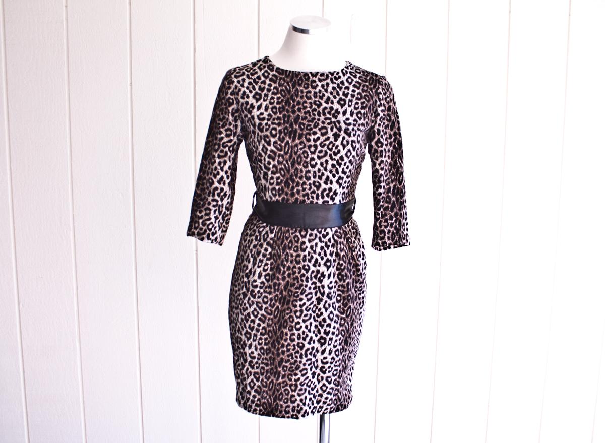 1950s Cheetah Print Dress 1