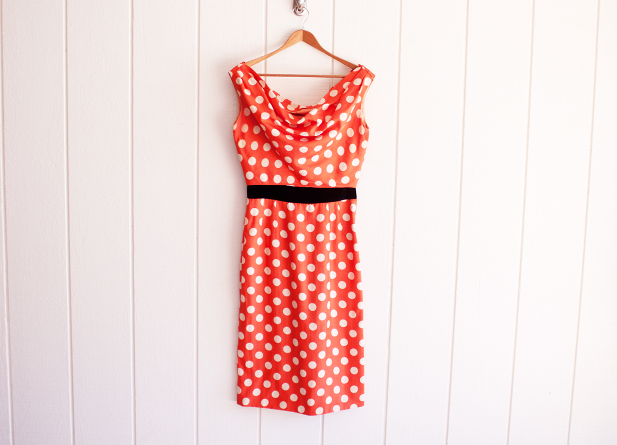 1950s Red-White Polka Dot Minnie Mouse Dress 1